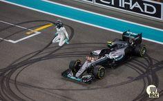 Nico Rosberg celebrate his championship in Abu Dhabi 2016