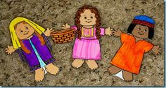 Ruth bible story. Link for awesome paper people printables.