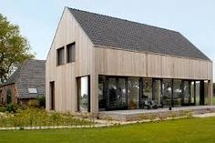 Look and feel, style, cladding Building Design, Building A House, Modern Barn House, Casas Containers, Contemporary Barn, Passive House, Small Buildings, Shed Homes, House In The Woods