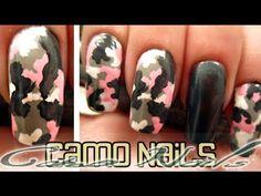 Beginner : Camouflage  Nails