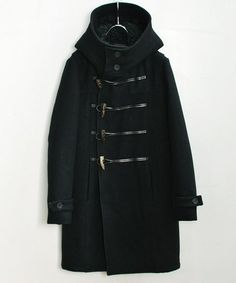OURET,HARRIS MELTON LONG DUFFLE COAT -WEAR もっと見る