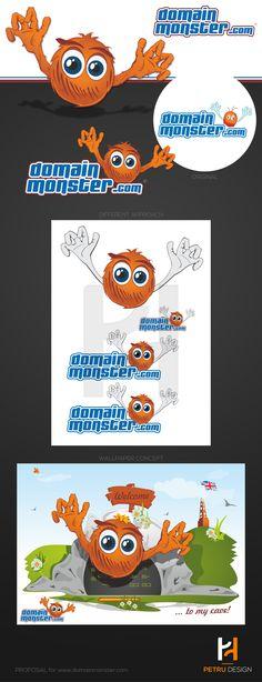 Rebranding Proposal for Domain Monster UK www.domainmonster.com