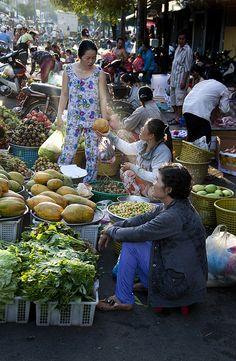 Vegetable market--Ho Chi Minh City , Vietnam