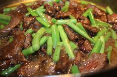 IMG_7835 Stir Fried Beef with Green Beans in Orange Sauce