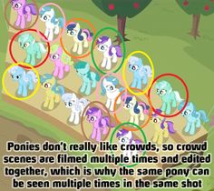 Or maybe Changelings can be good sometimes, and they sub in for ponies? Either way, that explains there being about 20 DERPYS in one shot