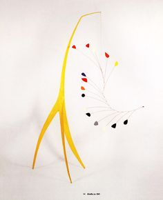 Mom is crazy for Calder's mobiles and stabiles. I like them, but not enough to satisfy her desire for me to see the world through her eyes...
