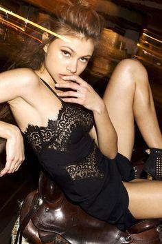 For Love & Lemons Bourbon Lace Maxi Dress in Black