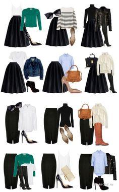 """Как покупать меньше одежды и при этом не мучиться каждый день вопросом """"что надеть""""? Удачным решением может стать формирование многофункционального гардероба, который будет состоять на 60 процентов из базовых вещей, на 35 процентов - из капсул и на пять процентов из трендовых вещей. Советы по составлению многофункционального гардероба с фото примерами смотрите в этой статье."""