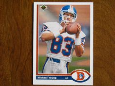 Michael Young Denver Broncos Wide Receiver Card No. 553 (FB553) 1991 Upper Deck Football Card - for sale at Wenzel Thrifty Nickel ecrater store