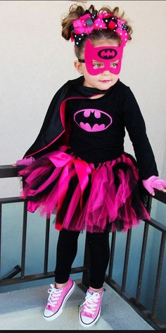 Bat Girl Super Hero Complete Tutu Costume