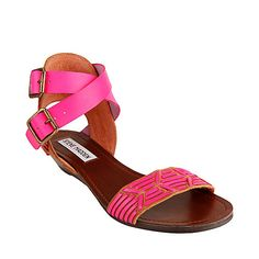 RASCAL-S COGNAC MULTI women's sandal flat ankle strap - Steve Madden