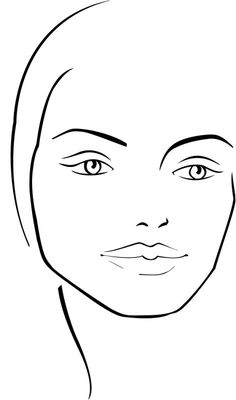 kb-beauty.com: Blank Face Chart Temples (Male and Female).