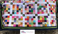 Summer Camp days are filled with the unexpected and this scrappy quilt is designed to bring a cheerful surprise to any overnighter. Scrap Quilt Patterns, Paper Piecing Patterns, Applique Quilts, Pattern Blocks, Scrappy Quilts, Mini Quilts, Baby Quilts, Quilting Projects, Quilting Designs