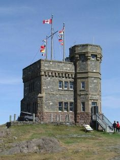 Cabot Tower on Signal Hill, St John's, Newfoundland, Canada