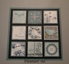 Stamp with Susie: It is an All is Calm Framed Holiday Sampler!