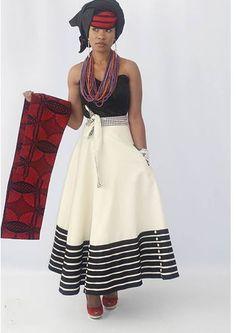 Modern Xhosa Design by Urban Zulu African Print Skirt, African Print Dresses, African Fashion Dresses, African Dress, African Clothes, African Prints, Xhosa Attire, African Attire, African Wear