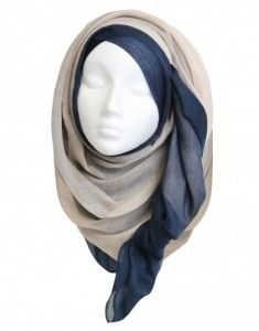 .side hijab wavey tucked cute grey neutrals and beige