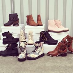 Boots on boots on boots #FauxLeather #Booties