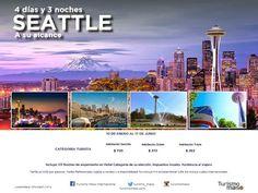 Un viaje de Mil Millas comienza por el primer paso! travel without limits! Asesor de Viajes VOLANDO:   SEATTLE GETAWAY PACKAGES - ESCAPADITA EN SEATTL...