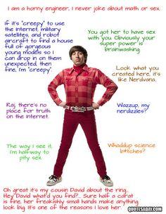 The Big Bang Theory Quotes   Howard Wolowitz