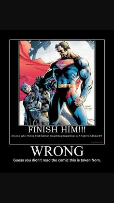 Because Batman is Ultimately better than Superman always