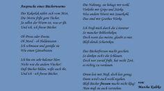 Ansprache eines Bücherwurms von Mascha Kaléko aus: Die paar leuchtenden Jahre