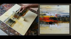 Abstract Painting in less than 4 minutes / Fastest / Real time Video / Easy - YouTube