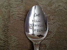 Eat Well  Travel Often   vintage silverware door BellaJacksonStudios, $15.95