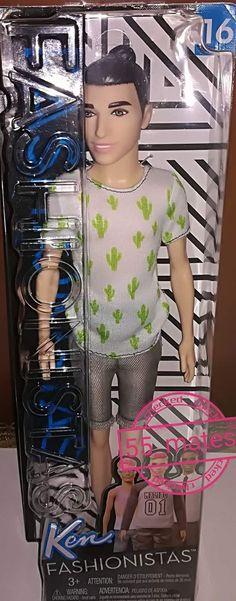 -Mattel Ken Fashionistas Doll CactusCooler Playing (16)