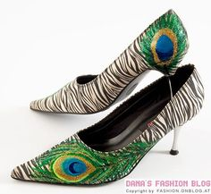 DIY Shoes : DIY Peacock Feather Shoes