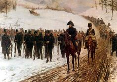 """""""The Rear Guard"""", by James Princip Beadle, showing the retreat to Corunna - 1809."""