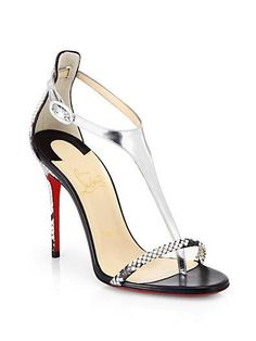 Python and metallic are the perfect pair for Louboutin.