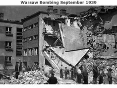 Air-raid bomb damage in Warsaw after the German invasion. Note the pictures still on the wall. Get premium, high resolution news photos at Getty Images Ww2 Pictures, Ww2 Photos, Stock Pictures, Stock Photos, Invasion Of Poland, Air Raid, Sites Like Youtube, Video Site, Warsaw