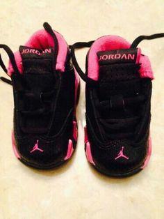 size 40 4d2ee 82bd1 Nike Air Jordan XIV 14 Retro Infant todler Girls Pink black Shoes Size in Baby  Shoes