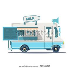 New Ideas Vintage Truck Cake Sweets Ford Truck Quotes, Dodge Pickup Trucks, Family Car Decals, Camping Friends, Truck Cakes, Ice Cream Van, Food Truck Design, Monster Truck Birthday, Flat Design Illustration