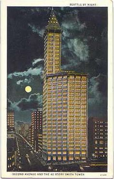 Smith Tower (Gaggin and Gaggin, 1914), Seattle, ca. 1915  Courtesy UW Special Collections