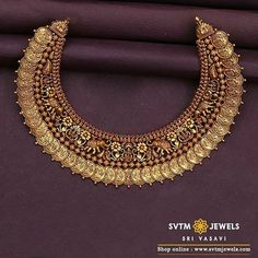 Gold jewellery design necklaces - Shop Mind Blowing South Indian Style Imitation Jewellery Designs Online Here – Gold jewellery design necklaces Indian Bridal Jewelry Sets, Indian Gold Jewelry, Indian Necklace, Bridal Jewellery Collections, Indian Gold Bangles, Indian Gold Necklace Designs, Gold Haram Designs, Jhumka Designs, Gold Designs