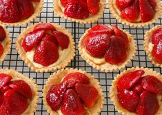 Recipe for strawberry tartlets - The Boston Globe Boston Food, Delicious Desserts, Yummy Food, Strawberry Recipes, Strawberry Tarts, Fruit Tarts, Strawberry Fields, Brownie Desserts, Food Obsession