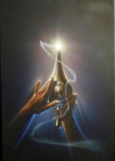 Disney – Aladdin – John Alvin – Aladdin Magic Lamp – original production color concept art