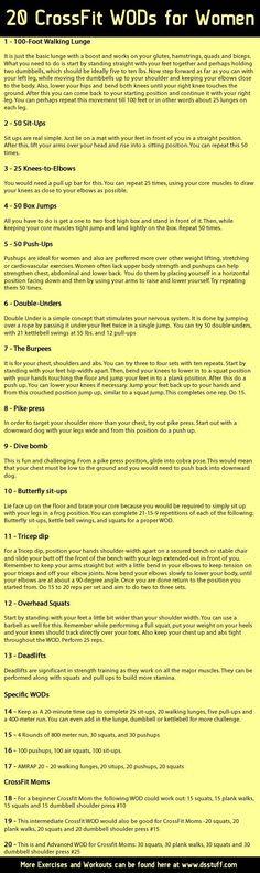 20 Crossfit workouts for women - www.custombodz.com: