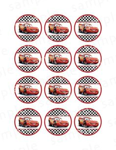 Disney Cars Cupcake Toppers Printable Lightning McQueen