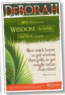 DEBORAH - Women of the Bible Bulletin Board Poster Set