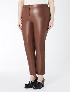 Pantalone super slim in similnappa