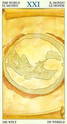 XXI. The World - Tarot of Atlantis by Bepi Vigna, Massimo Rotundo