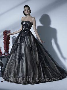 Unique Black Cream Silver Wedding Dress By Jacqueline Exclusive 19924