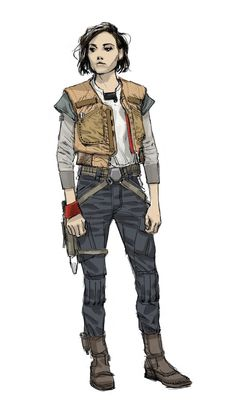 Star Wars Rogue One : Jyn Erso Character Concept Art - Star Wars Women - Ideas of Star Wars Women women - Star Wars Rogue One : Jyn Erso Character Concept Art Rogue One Star Wars, Star Wars Books, Star Wars Rpg, Trajes Star Wars, Costume Star Wars, Concept Art Landscape, Mega Anime, Apocalypse Character, Zombie Apocalypse