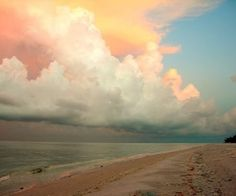 Beach-just the most beautiful clouds ever.