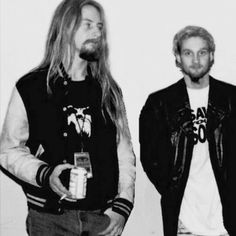 Jerry Cantrell and Layne Staley