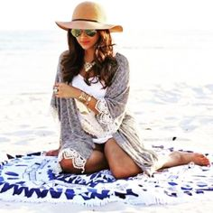 ~Beach Roundie~ A Great wall tapestry for those #Beachgirl #hippy #hipster #bohochic #mandala #tapestry @handicrunch