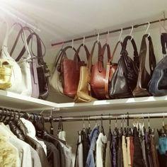 Interior Living Room Design Trends for 2019 - Interior Design Wardrobe Organisation, Wardrobe Storage, Closet Storage, Closet Organization, Organizing, Handbag Storage, Master Bedroom Closet, Walk In Wardrobe, Closet Designs